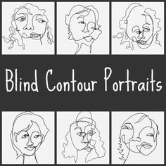 Kristin Dudish: Sunday Sketches... Blind Contour Portraits! Hooray!