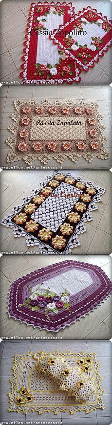 Идеи напольных ковриков...