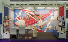 I made this artwork during Frankfurter Buchmesse 2017, a huge Book Fair in Frankfurt. The depicted theme is a scene from barnstorming -a form of entertainment in which stunt pilots performed tricks on flying airplanes- and it has been painted for Volatilium label of Nefeli publishing house and the book we are going to publish soon.