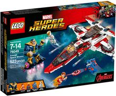 Lego Marvel Avengers Super Heroes Avenjet Space Mission 76049 for sale online Lego Marvel's Avengers, Lego Marvel Super Heroes, Lego Batman, Spiderman, Superhero, Legos, Minions, Iron Man, Lego For Kids
