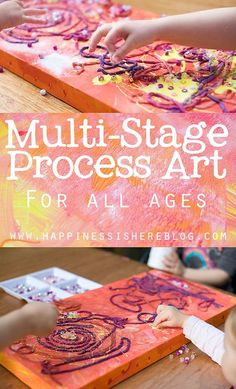 Multi-Stage Process Art - For all ages!! Wonderful collage art idea! #processart #collageart #artforkids
