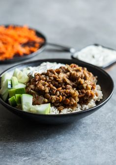 "Slow Cooker spiced lentils and cauliflower Flavorful, super easy to prepare, and feature the addition of sweet carrot ""rice! Healthy Slow Cooker, Slow Cooker Recipes, Crockpot Recipes, Veggie Recipes, Vegetarian Recipes, Healthy Recipes, Vegetarian Cooking, Slow Cooking, Veggie Dishes"