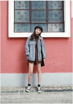 Brother Over Denim Jacket | Korean Fashion