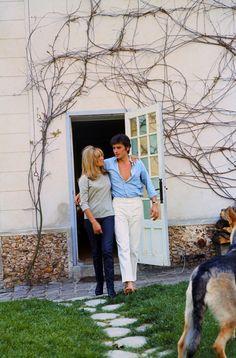 Alain Delon with Natalie, 1967 Gents Fashion, Best Mens Fashion, Style Fashion, Alain Delon, Sam Peckinpah, Most Stylish Men, Legion Of Honour, Couple, Music