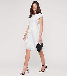 Kleid mit Spitze in der Farbe cremeweiß bei C&A