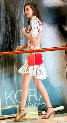 Miranda Kerr in a floral Zimmermann dress