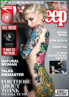 This is an example of the types of tattoo magazines I do not like! My reasoning for not liking these is I feel there 'trashy'.