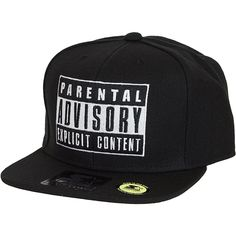 Parental Advisory Starter Snapback Cap - Glow In The Dark! - entdeckt im  Harlem Streetwear Shop! 1aa783c3ef68