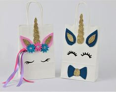 Magical Fairytale Pastel Unicorn Birthday Party Favor Bags   Etsy