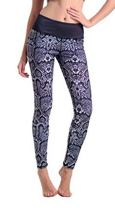 ed6466dd6e Amazon.com: MITIAO Woman Snakeskin Printed Active Workout Capri Tight Yoga  Leggings: Clothing