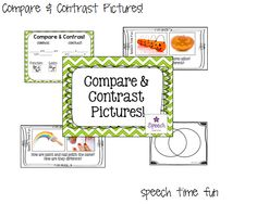 Speech Time Fun: Compare & Contrast Pictures!!