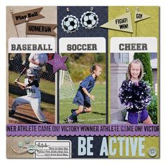 Cute & Versatile Sports Page...for children in more than one school activity.