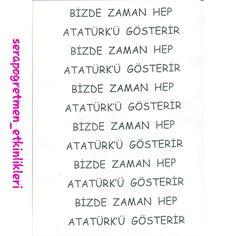 Atatürk saati kalıp-2 #serapogretmen #serapogretmen_etkinlikleri