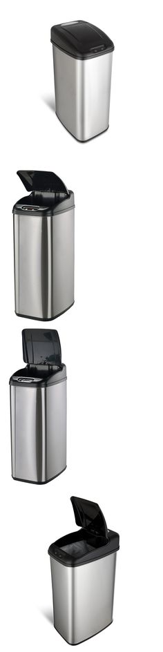 Trash Cans And Wastebaskets Trash Cans And Wastebaskets 20608 Black Step Trash Can Plastic