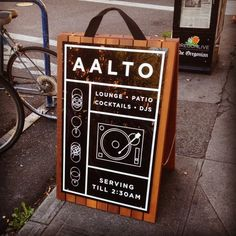 Nice sidewalk board for my favorite bar.