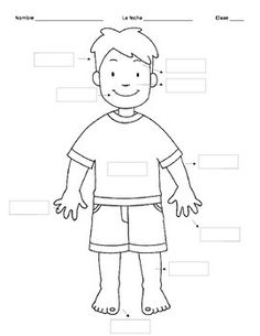 Body Parts worksheet // Ficha de partes del cuerpo #