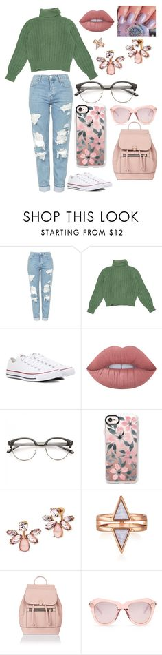 """back to school"" by amy-dingwall on Polyvore featuring Topshop, Yves Saint Laurent, Converse, Lime Crime, Casetify, Marchesa, Accessorize and Karen Walker"