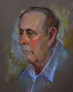 Daily Paintings By Elizabeth Blaylock, American Impressionist: PASTEL PORTRAIT SKETCH