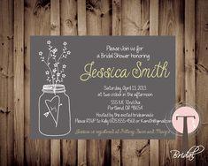Mason Jar Invitation Bridal Shower Invitation by T3DesignsCo, $12.99