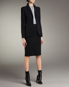 Suits for Women, Skirt Suits & Pencil Skirt Dresses | Neiman Marcus: Mandarin Collars