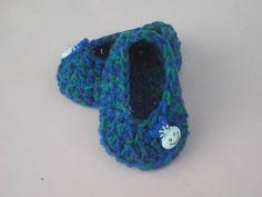 crocheted bootie  sapatinho em crochet