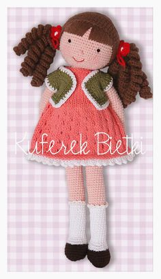 Kuferek Bietki: Carmen - lalka na szydełku/ Gehäkelte Puppe