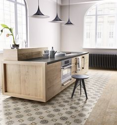 tiles Patterns 50 Unique Kitchen Flooring Ideas for a Lively Step - Houseminds Küchen Design, Interior Design, Buy Tile, Black Interior Doors, Wood Look Tile, Wall And Floor Tiles, Style Tile, Cuisines Design, Kitchen Flooring