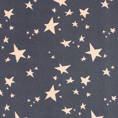 Jersey Lilly Stars 4 - Baumwolle - Elasthan - dunkelgrau