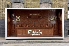 Carlsberg unveils bar made entirely of chocolate. Pop-up.