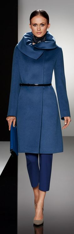Cinzia Rocca Fall 2013 Wool and Angora coat love the coat but would change the belt asap.