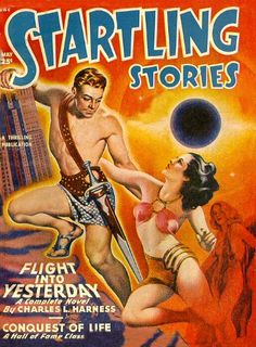 'STARTLING STORIES - FLIGHT INTO YESTERDAY'