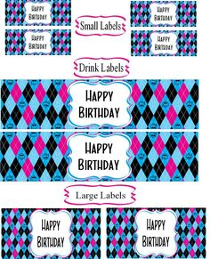 Mighty Delighty: Monster High Happy Birthday Labels {Free Printable}