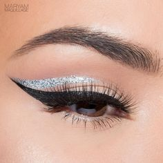 """""""See """"The Silver Lining"""" Tutorial two posts ago. I'm still obsessing over this @lorealparisusa silkissime liner in Silver topped with @urbandecaycosmetics…"""""""