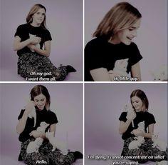 Emma Watson and kittens :)