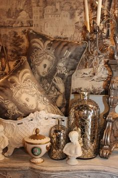 """Toile is the name of a fabric that entered the English language around the 12th century from a French word meaning """"linen cloth"""" or """"canvas'   Lady-Gray-Dreams"""