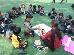 To create awareness in children about where the birds live & to foster sensitivity, we had an activity Making Home For Birds for Nursery children. Children along with the help of  teachers made  different kinds of homes with materials like shoe box , ice cream sticks, plastic bottles etc.  They put some dry grass inside the home & in a few grains in a bowl were placed. Children were quite excited in Making Home For Birds specially when it was placed on the branches of the tree.