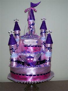 Cute diaper cake gift!