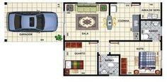 Plants of houses with 2 bedrooms 3d House Plans, Model House Plan, Luxury House Plans, Small House Plans, Home Design Plans, Plan Design, Backyard Studio, Granny Flat