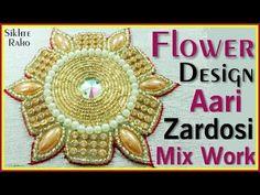 Flower Design Aari Zardosi Mix Work ! Hand Embroidery ! Aari Work