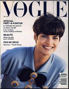 PARIS FEBRUARY 1989 LINDA EVANGELISTA