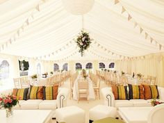 If you are looking for outdoor wedding tent decoration ideas you've come to the right place. We have 19 images […] Wedding Tent Decorations, Wedding Bunting, Party Decoration, Marquee Wedding, Tent Wedding, Our Wedding, Dream Wedding, Wedding Reception, Budget Wedding