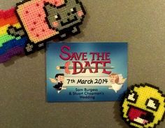 When Adventure Time, Zelda, and Minecraft collide with wedding invitations