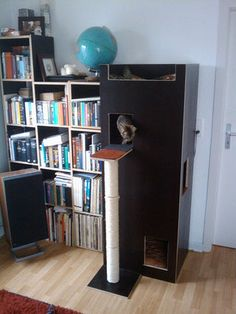 DIY cat tower from wood.