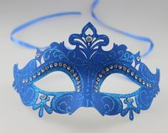 Popular items for blue masquerade mask on Etsy
