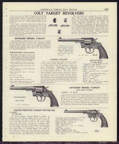 1947 COLT Officers' Model Target .22 & .38 Special, Police Positive Revolver…
