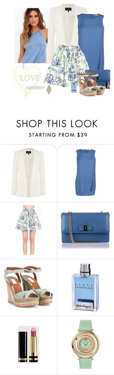 """I ❤ Summer!"" by katiethomas-2 ❤ liked on Polyvore featuring Armani Jeans, Michael Kors, Alice + Olivia, Salvatore Ferragamo, Valentino, Gucci and Versace"