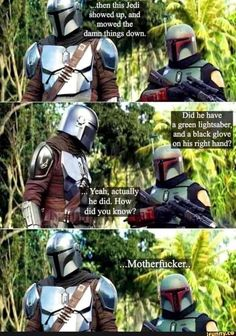 I would've asked, too.: TheMandalorianTV Star Wars Jokes, Star Wars Comics, Star Wars Pictures, Star Wars Images, Star Wars Baby, Star Wars Fan Art, Lord, Star Wars Clone Wars, Star Wars Characters