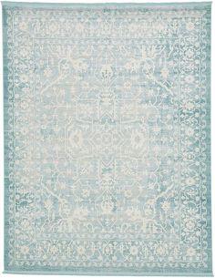 Light Blue 8' x 10' New Vintage Rug | Area Rugs | eSaleRugs