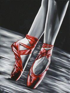 Ballerina Art, Ballet Art, Ballet Dance, Pointe Shoes, Ballet Shoes, Ballet Painting, Painting Shoes, Ballet Drawings, Mosaic Wall Art