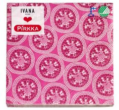Every #Finnish home...has a cupboard / drawer full of packs of pretty paper napkins.  They are also a nice gift to take round when you are invited for coffee (teamed with a pack of coffee, chocolates, candles etc). These #IvanaHelsinki / #Pirkka napkins are new for Spring 2013 and are made in Finland.